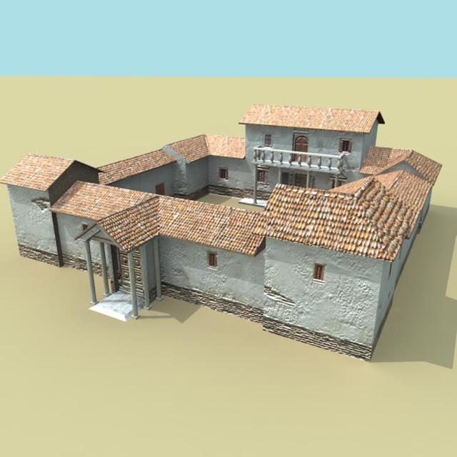 how to draw a roman villa