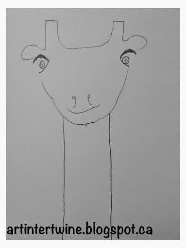 giraffe drawings for kids - Art Intertwine