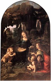 Virgem do Rochedos, por Leonardo da Vinci