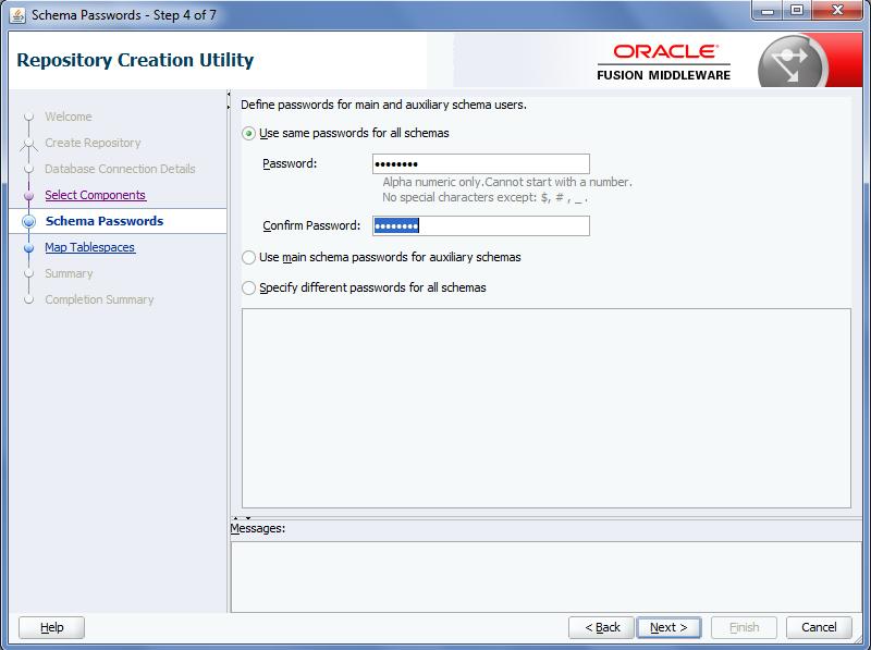 Oracle MFT Schemas