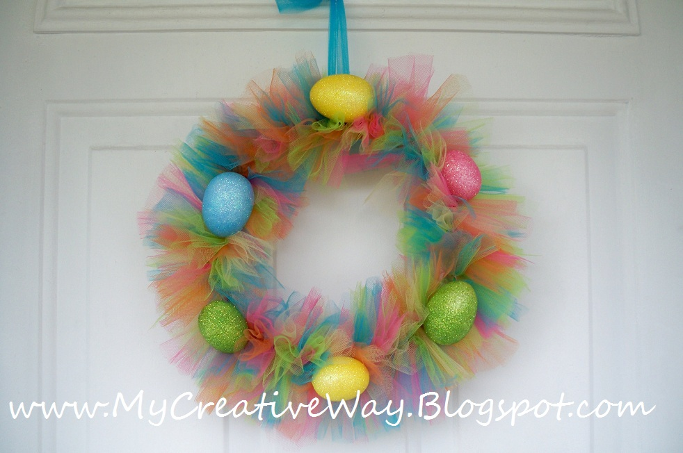 creative way make easter egg tutu wreath