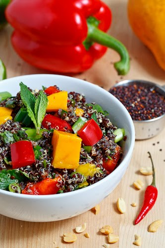 Thai Style Black Quinoa Salad