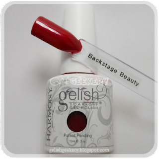 Gelish Swatch Backstage Beauty