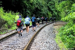 Our trekking group's journey begins