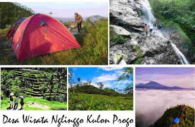 wisata alam desa Nglingo Kulon Progo Jogja