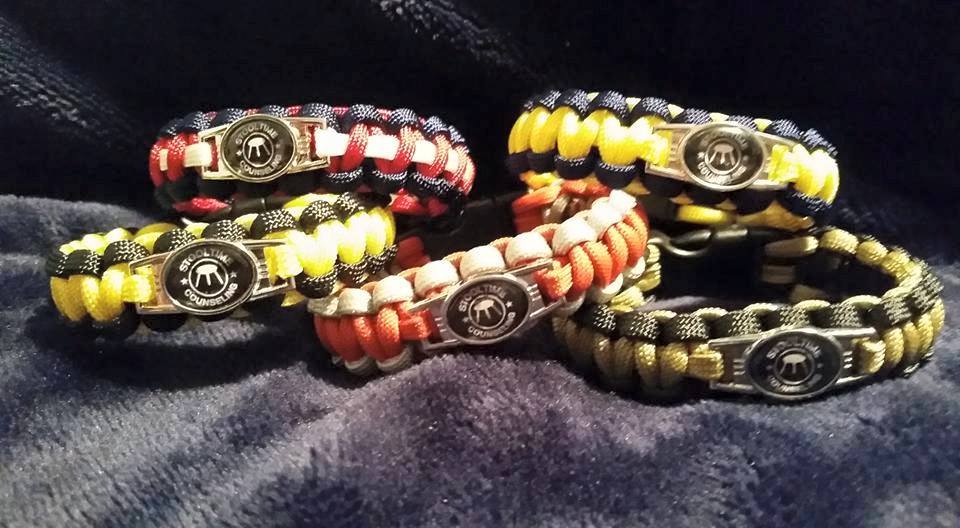 Stooltime Counseling Paracord Bracelets: