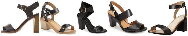 Charlotte Russe Delicious Single Strap Chunky Heel Sandals $19.99 (regular $32.99) similar  Lucky Brand Iness Sandal $39.47 (regular $78.95)  BCBGeneration Odele Leather Sandal $49.90 (regular $110.00)  Naturalizer Dahnny Sandal $79.90 (regular $98.95)  Cole Haan Cambon Mid Sandal $124.95 (regular $198.00)