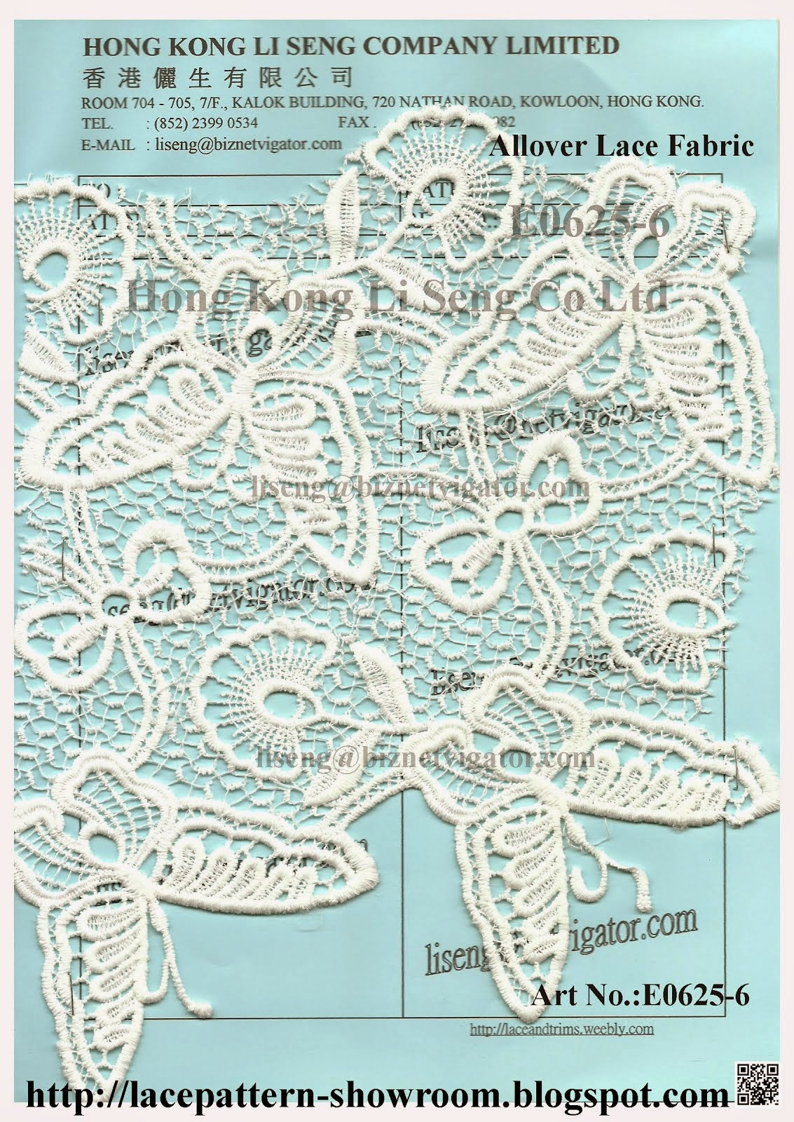 New Butterfly Pattern-Allover Lace Fabric Manufacturer Wholesale Supplier-Hong Kong Li Seng Co Ltd