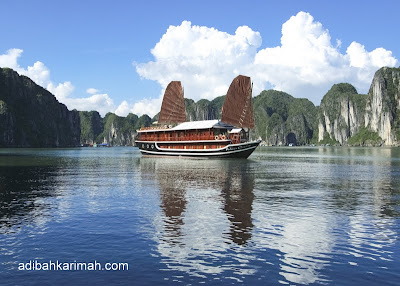 free holiday to vietnam by premium beautiful adibah best destination Halong Bay
