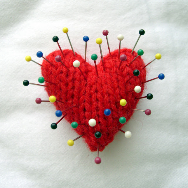 Voodoo girl heart with pins