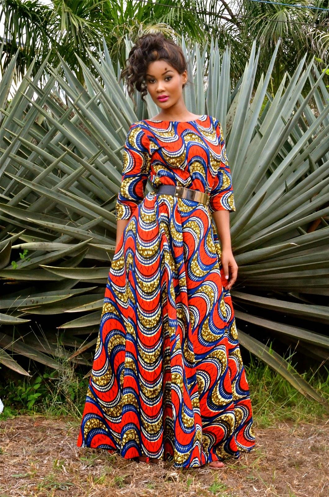 Ankara print maxi dress/ African print maxi dress/ african