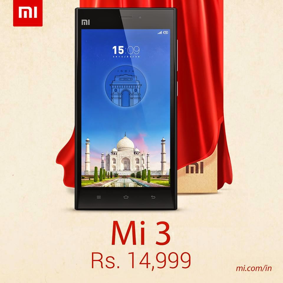 Xiaomi MI 3 Specification, Price and Release date in India