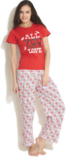 Flipkart : Buy HEART 2 HEART NIGHT SUITS at Flat 60% discount, Rs. 399 only