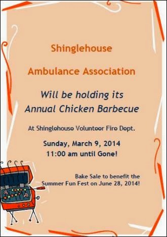 3-9 Chicken BBQ Shinglehouse Ambulance Association