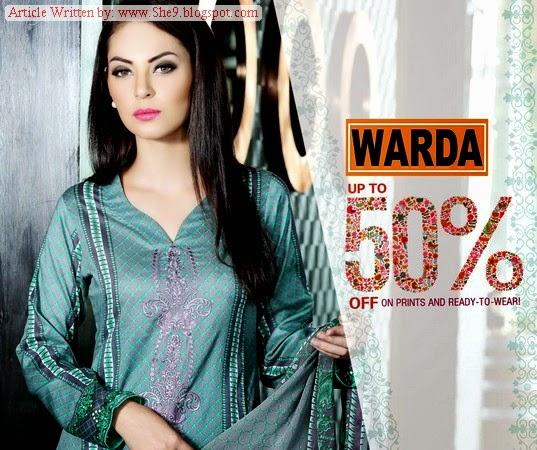 Warda Designer Eid / Midsummer Collection 2014