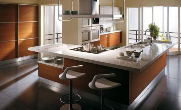 Dise o de cocinas modernas que mejoran el estado de animo - Ikea barra cucina ...