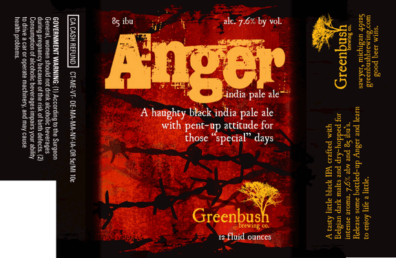 Greenbush Anger Label