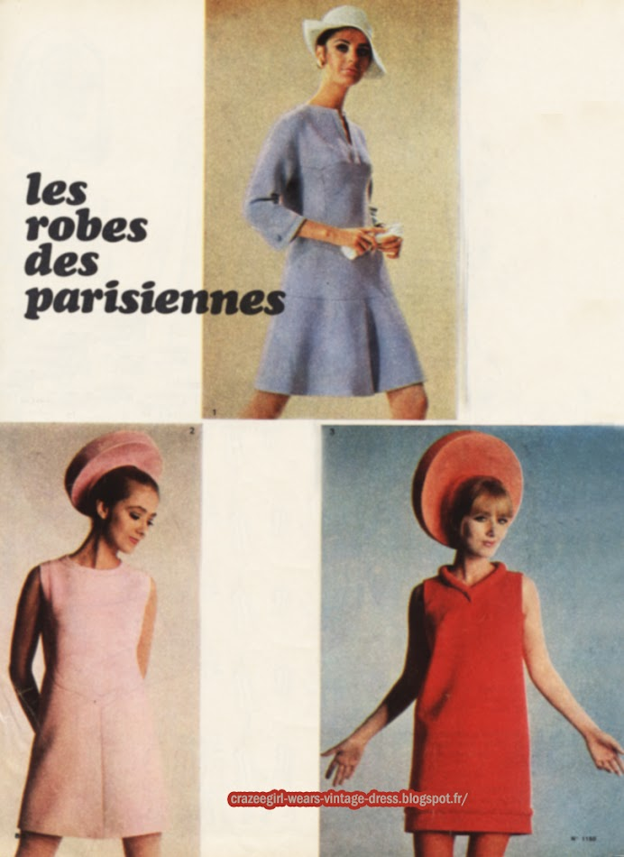 Dress 1967 Pierre Cardin Carven 1960 60s mod