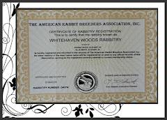 Rabbitry Registration photo