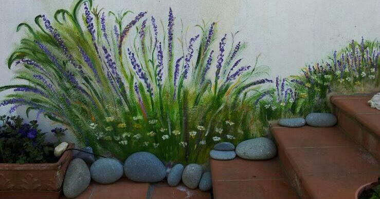 Pittura sui sassi e altro ho dipinto sul muro di casa - Disegnare sul muro di casa ...