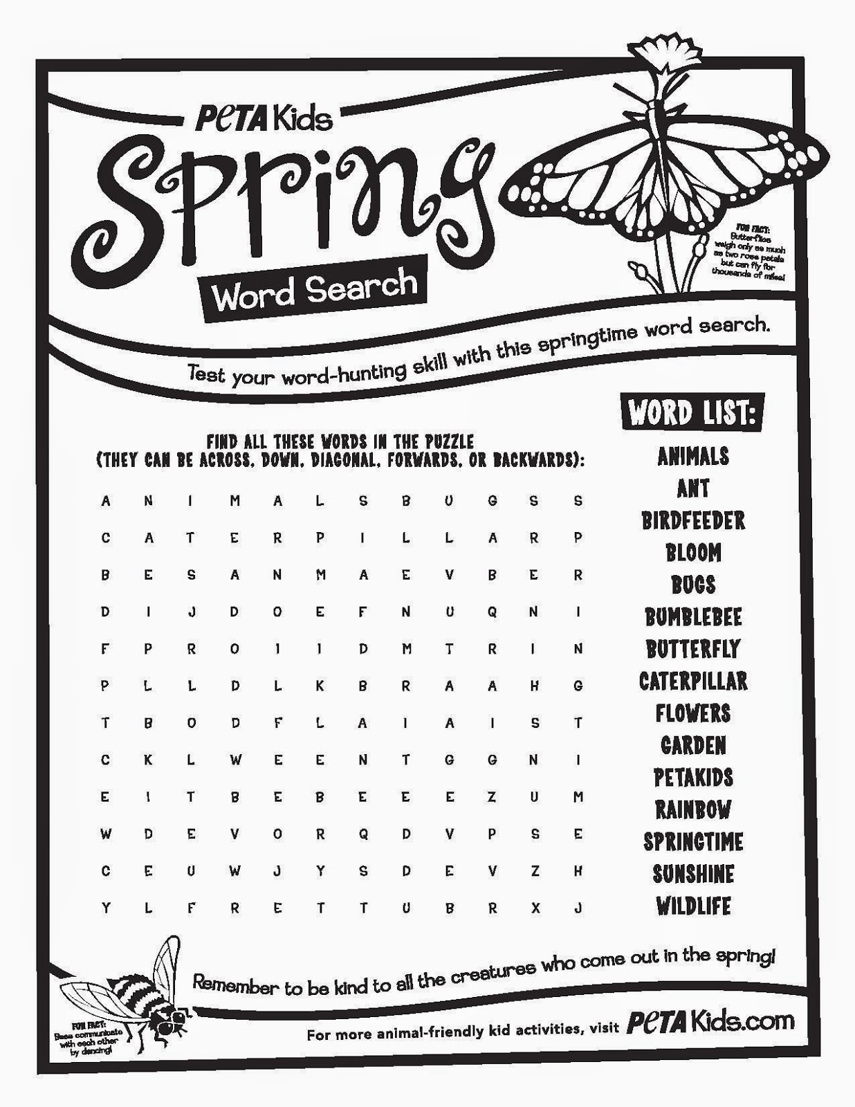 spring word search printable 6 spring word search printable 7
