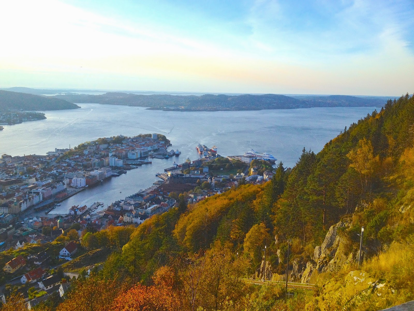 hiking Mount Fløyen, Norway