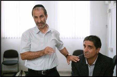 Sasson Gabai y Simon Abkarian en Gett: el divorcio de Viviane Amsalem (Ronit Elkabetz y Shlomi Elkabetz, 2014)