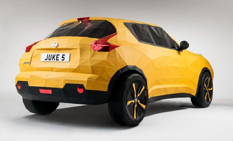 Luar Biasa!! Sebuah Mobil Nissan Juke Dibuat Dari Kertas