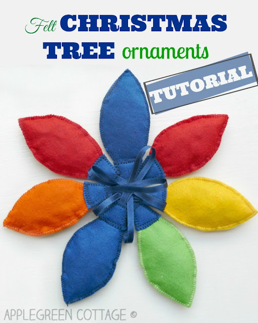 how to make Christmas tree ornaments from felt for kids