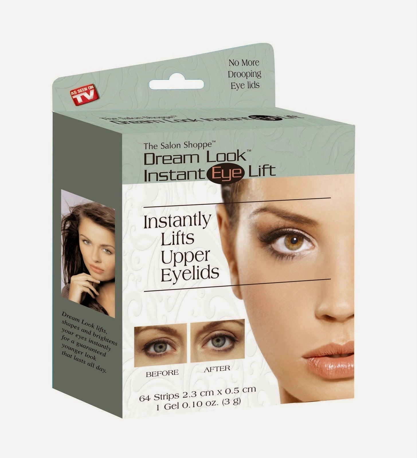 Dream Look INSTANT EYE LIFT 64 Strips & Gel - Lifts Shapes Brightens Eyes & Lids