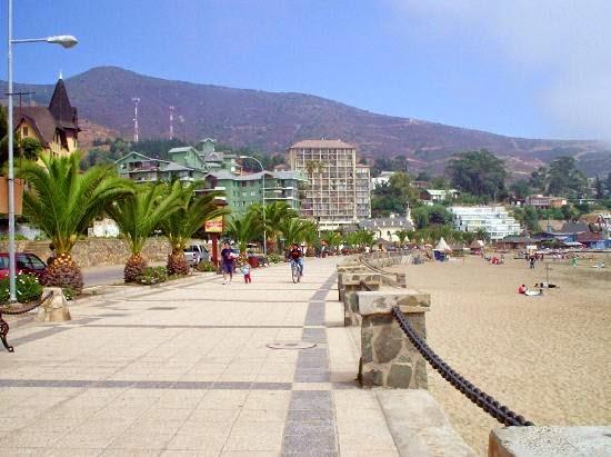 Paseo Costanera en Viña del Mar, Chile