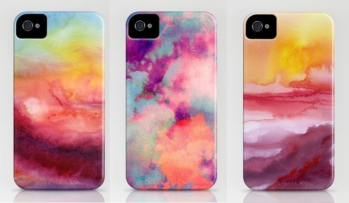 B soup diy watercolor iphone case for Homemade iphone case