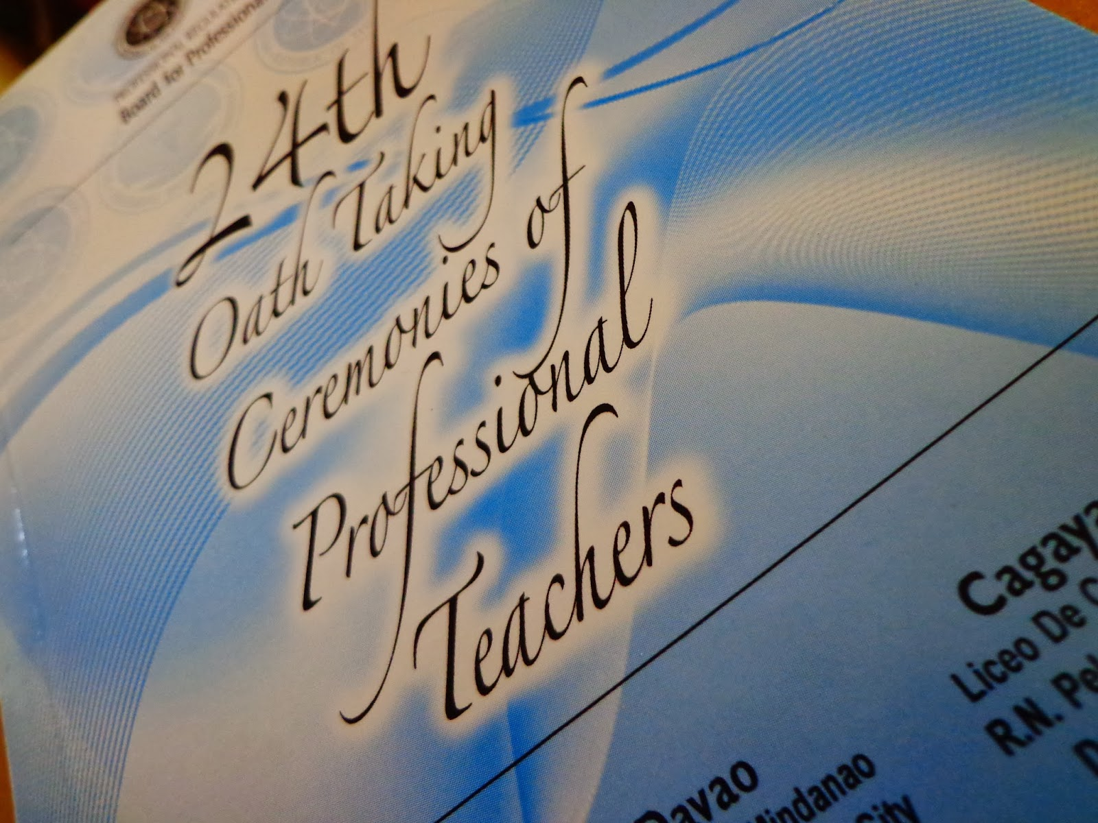 24th Oath Taking Ceremonies of Professional Teachers