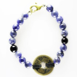 Sodalite with Coin Bracelet
