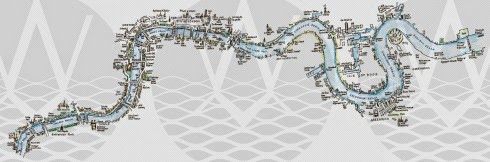 The River Thames Map