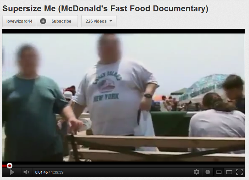 supersize me argument obesity Is mcdonald's really to blame for obesity in america february 24, 2010 by  in the movie supersize me on the part were he goes to a specific school he saw and so.