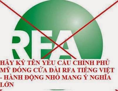 yêu cầu đóng cửa RFA tiếng Việt