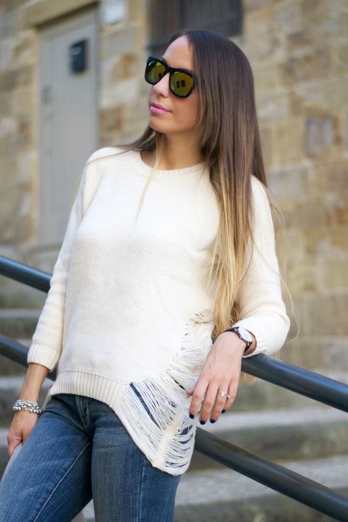 maglione basico crema