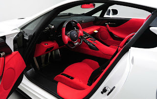 Lexus LFA Nurburgring Edition with Red Interior