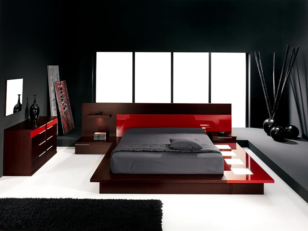 Red And Black Bedroom