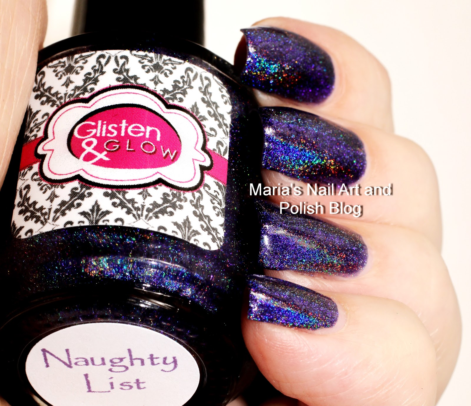 Marias Nail Art And Polish Blog Flushed With Stripes And: Marias Nail Art And Polish Blog: Glisten & Glow Naughty