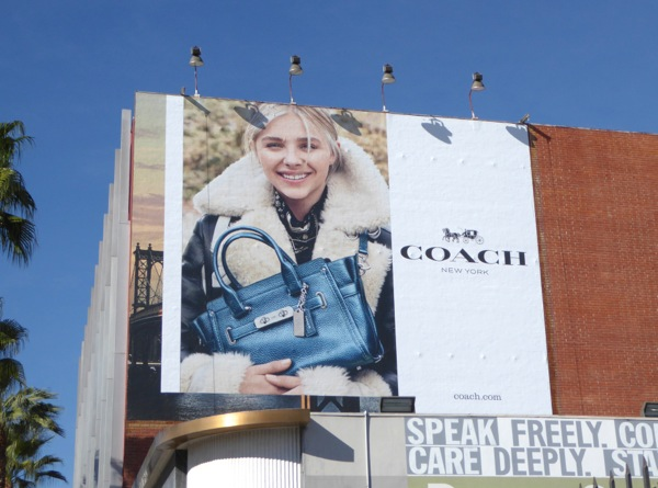Coach Chloe Grace Moretz FW15 billboard