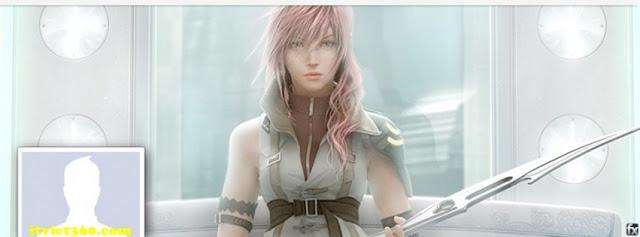 Ảnh bìa facebook 3D đẹp độc đáo - Cover FB timeline nice, game cô gái cầm gươm