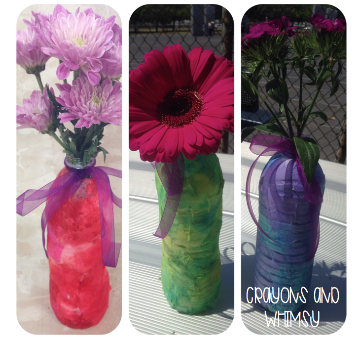 Mother's Day craft flowers vase kindergarten