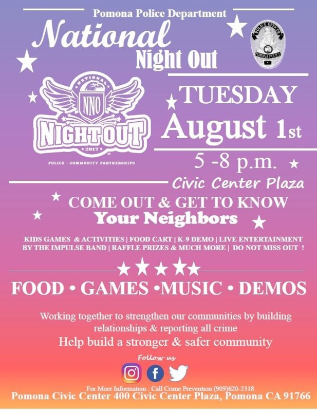 National Night Out hosted by PPD and City of Pomona