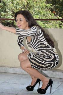 Actress Anu Smruthi Expose Cleavage Thunder Thigh in Fashion Dress