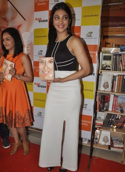 Shruti Haasan at Rashmi Shetty's 'Age Erase' book launch