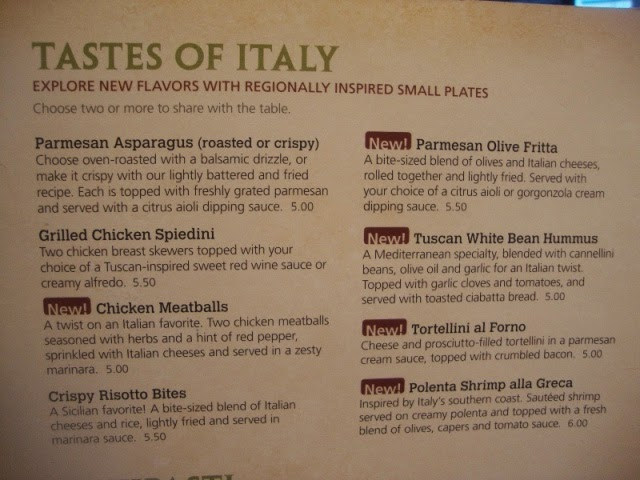 Ericjaz foodies olive garden for Olive garden light menu