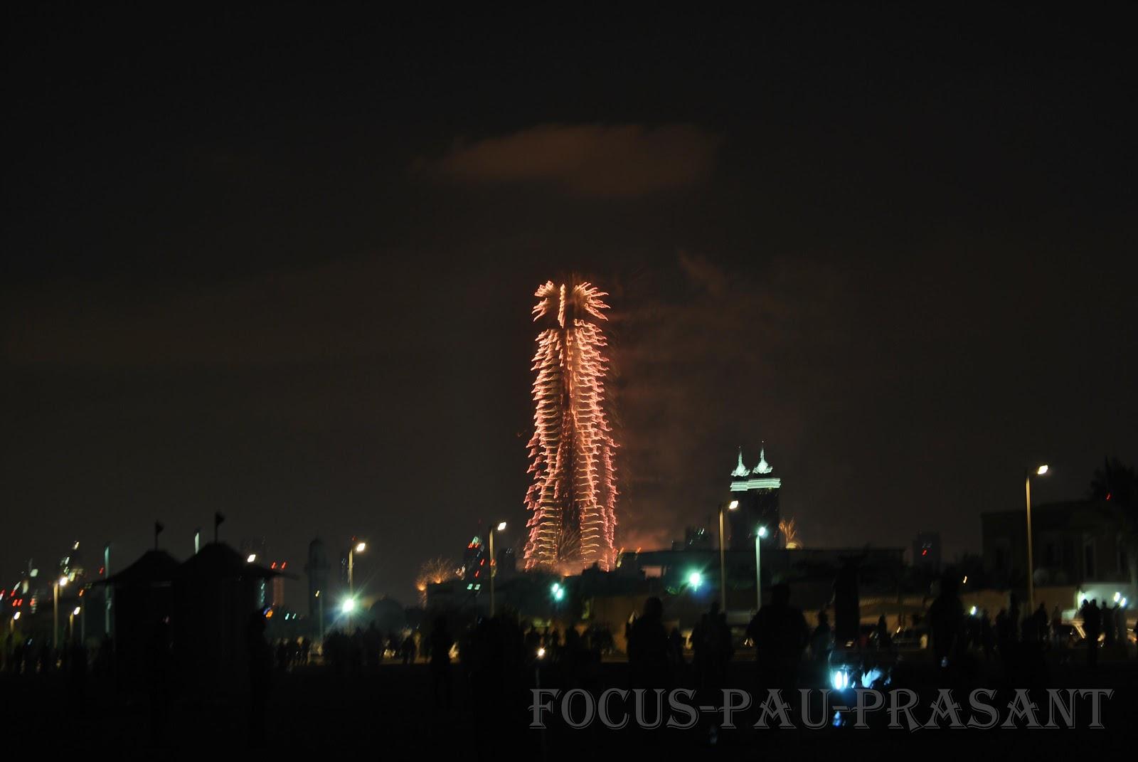 Prasantmenon New Year Fire Work Burj Khalifa And Burj Al Arab
