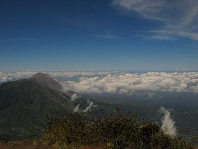 view dari puncak triangulasi merbabu